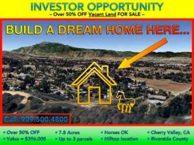 LAND FOR SALE 57% OFF -- PRICE LOWERED This Week
