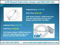 2017 Black Friday Sale LVD Round Induction lamps