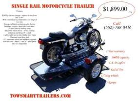 Motorcycle Trailer with 3 Rails