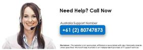 Microsoft Technical Support +61 (2) 8074 7873 Aust