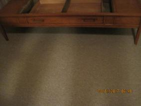 1960 Rectangular Coffee Table With Marble Inlaid Top
