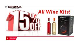 Great Deal On All Wine Making Kits For Christmas Occasion