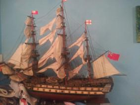 British Wooden Model Ship
