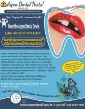 Aspen Dental Stop Preying On Innocent People